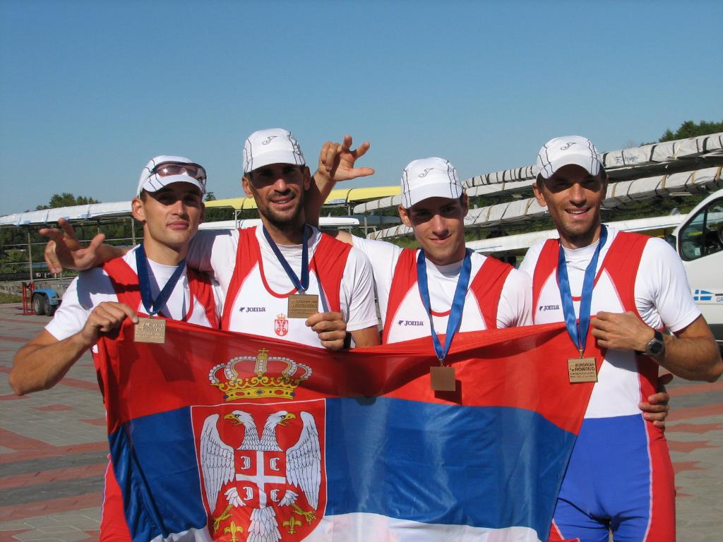 Miloš Stanojević, Miloš Tomić, Nemanja Nešić, Nenad Babović, bronza na Evropskom, Brest, Belorusija, 2009.