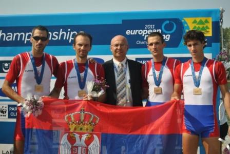 Miloš Tomić, Nenad Babović, Nebojša Jevremovićgen. sek., Miloš Stanojević, Nemanja Nešić, bronza na Evropskom, Plovdiv, Bugarska, 2011.