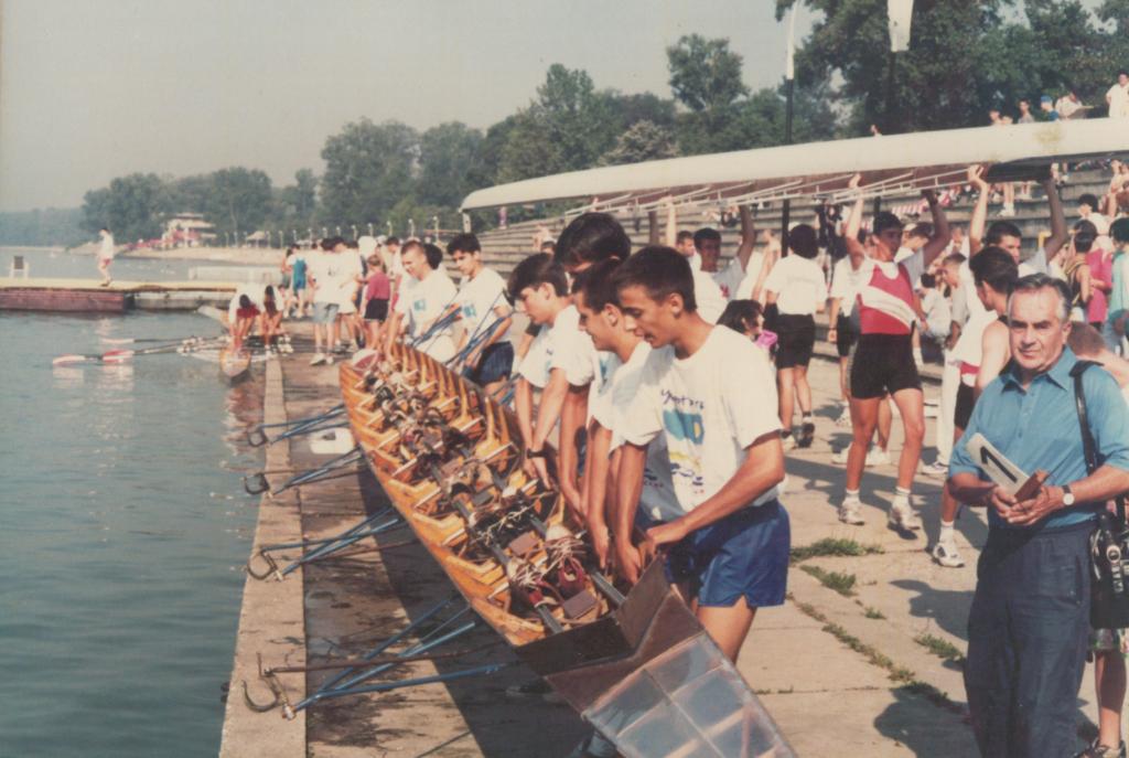 Kadetski osmerac Tamiša na državnom, trener Velimir Gerstner, 1995?
