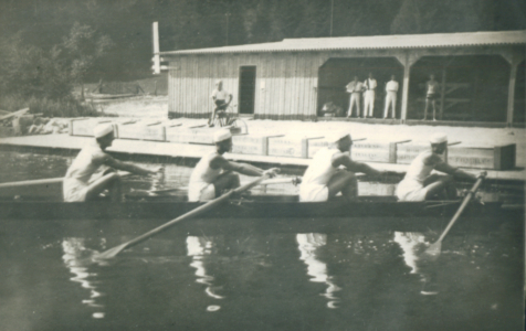 Četverac bez prvaci države 1930, 1931. s leva: Milutin Konstantinović, Ivan Peković, Nebojša Novakov, Čedomir Konstantinović