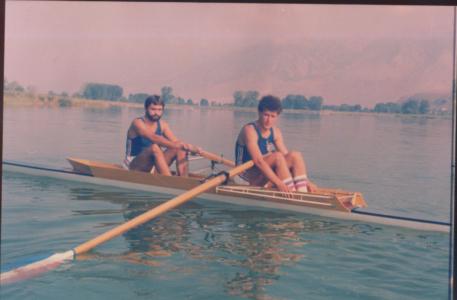 Dvojac bez kormilara, Jovan Opačić, Mirče Milakov, Janjine, 1984.