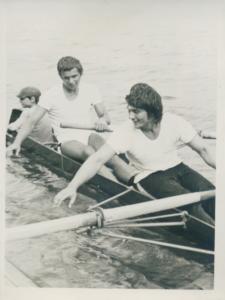 Dvojac sa kormilarom, Jovan Opačić, Milenko Jeftić, kor. Milan Todorović, juniorski prvaci države, 1974.